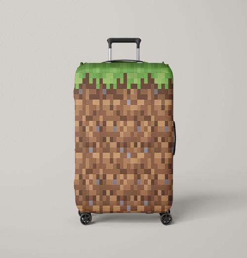 minecraft grass block Luggage Cover