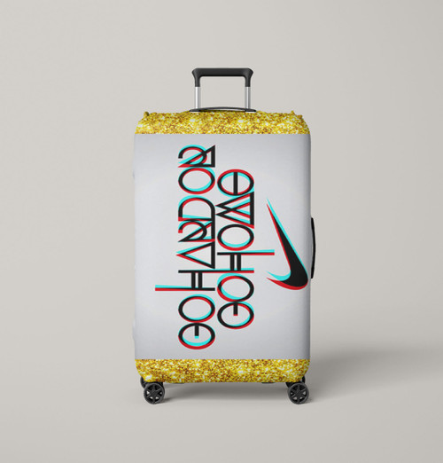 nike logo quote go hard or go home Luggage Cover