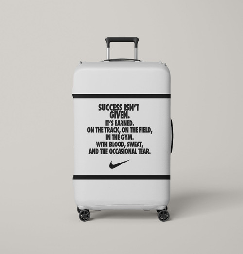 success isnt given nike Luggage Cover