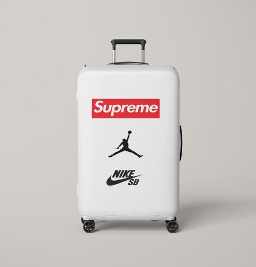 supreme nike jordan Luggage Cover