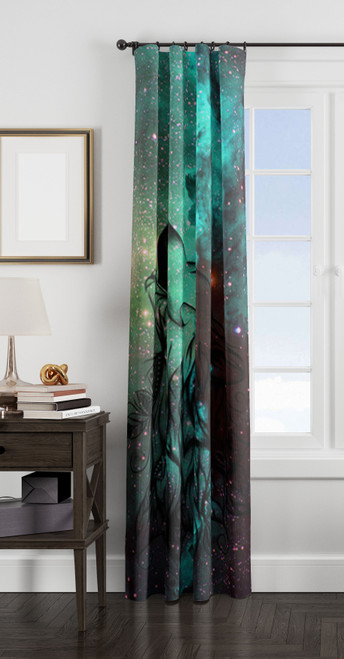 wolf dream catcher galaxy window Curtain