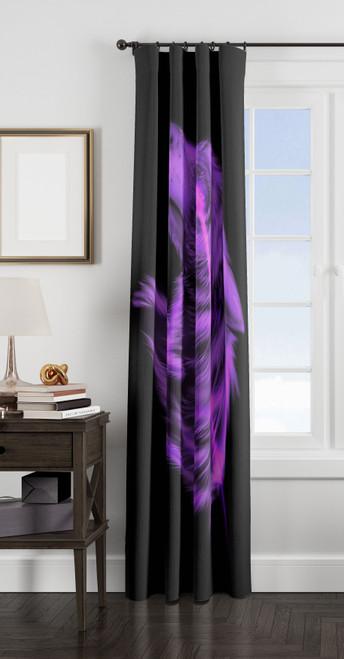 wolf purples window Curtain