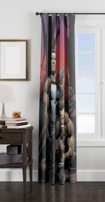 wolverine and punisher window Curtain
