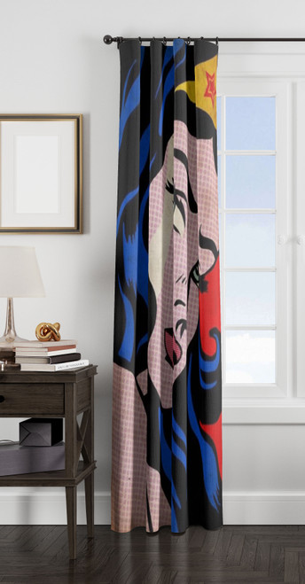 wonder woman pop art window Curtain