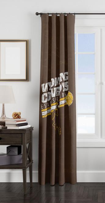 wyoming cowboys est 1886 window Curtain