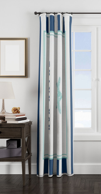 you be the anchor stripes window Curtain