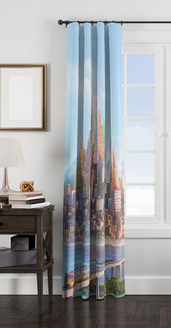 zootopia disney city wallpaper window Curtain