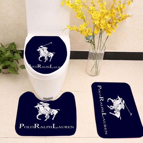 Ralph Lauren Polo Blue Toilet cover set up