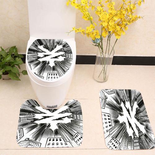 ZOO YORK URBAN WHITE Toilet cover set up