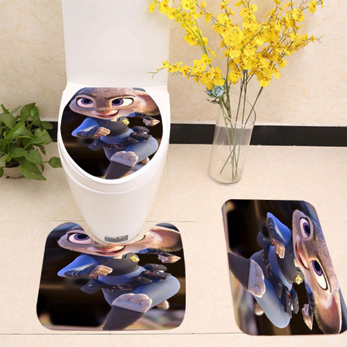 Zootopia Judy Toilet cover set up