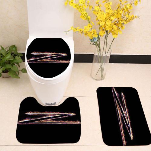 Zorro Logo Toilet cover set up