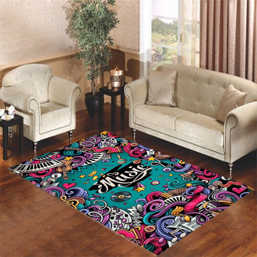 about all of music Living room carpet rugs