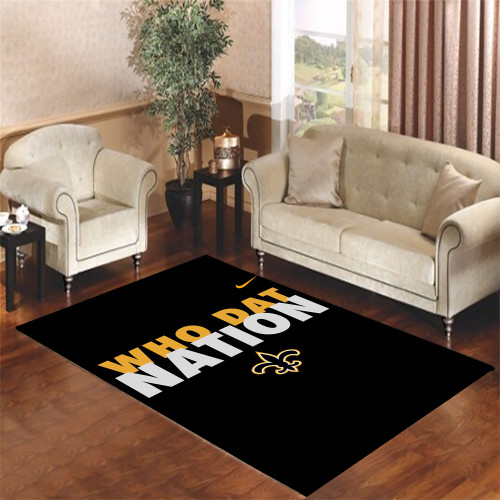 who dat nation Living room carpet rugs