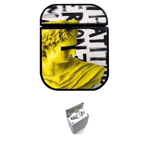 vaporwave yellow Custom airpods case