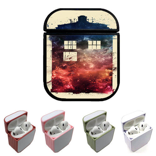 Dr Who Tardis Galaxy Custom airpods case