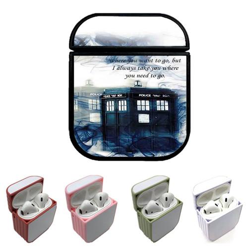Tardis Doctor Who Police Box Smoke Quotes Custom airpods case