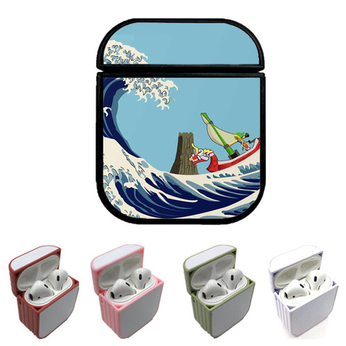 The Great Wave of Hyrule Custom airpods case