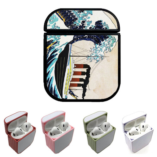 The Great Wave off Titanic Custom airpods case