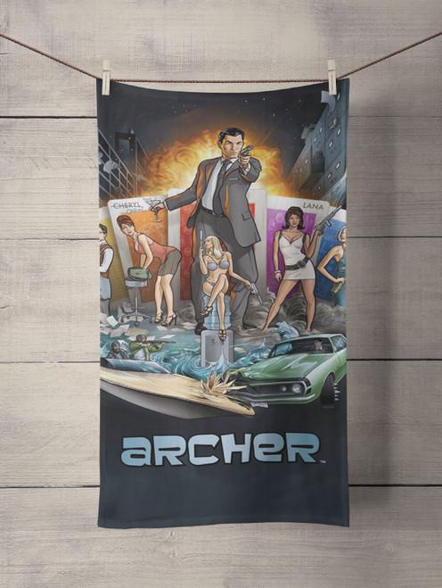 Agent Archer Custom Towel