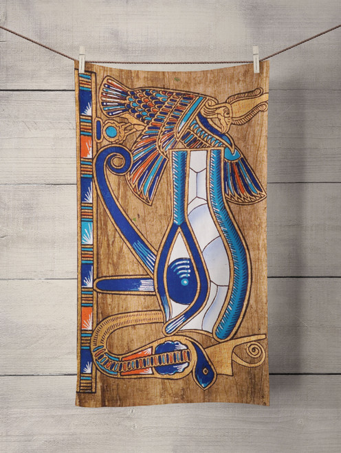 eye egyptian wood Custom Towel