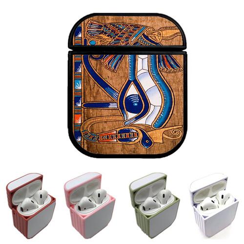 eye egyptian wood Custom airpods case
