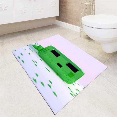 Minecraft Game Green Candy bath rugs