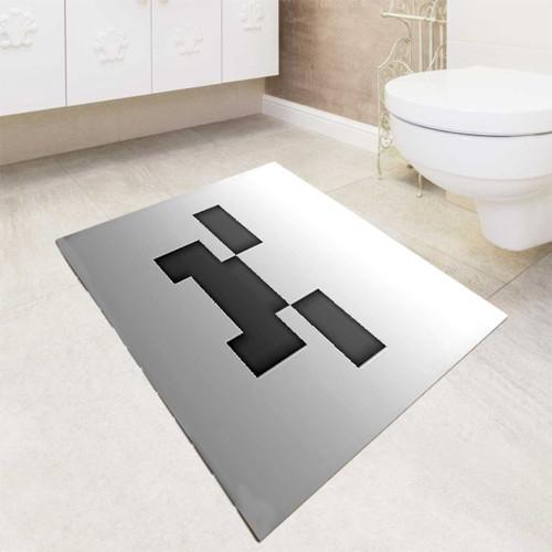 Minecraft Game Grey Face bath rugs