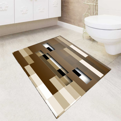 Minecraft Game Wood Face bath rugs