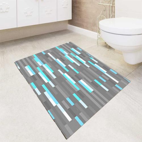 Minecraft Inspired Ore Diamond bath rugs