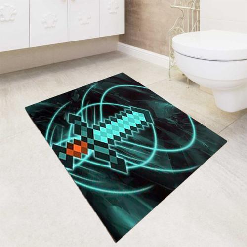 Zelda sword minecraftr bath rugs