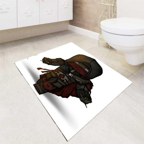 minecraft game assasin bath rugs