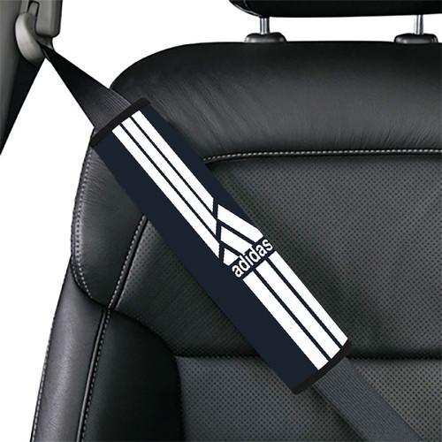 Black Straight Sport Adidas Car seat belt cover