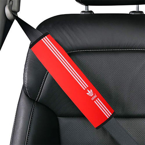 Red white Vertical Adidas Car seat belt cover