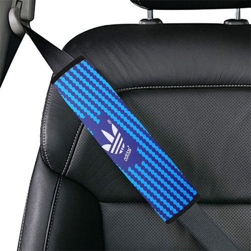 Turquoise blue white Adidas Car seat belt cover