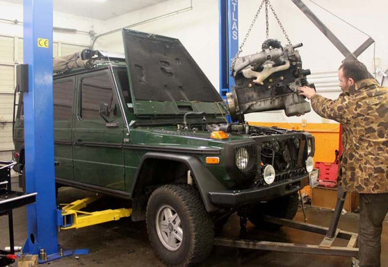 Mercedes G-Wagon Conversion W460 OM617 Turbo-Diesel Engine Swap