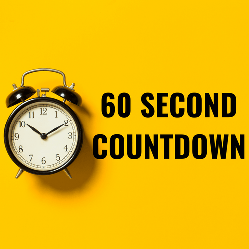 60 second countdowns