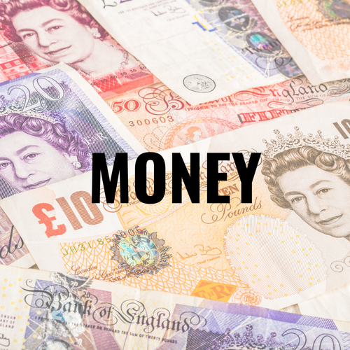 Learn about money for 4-8 year olds (UK) 10 page workbook