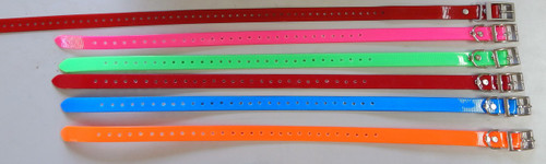 """Day-Glo collar with """"D"""" ring"""