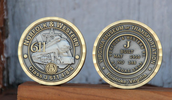 Norfolk & Western Class J 611 Collector's Coin