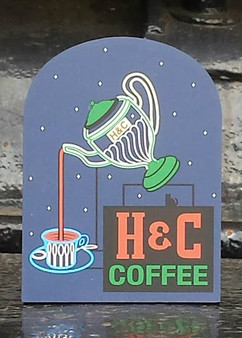 H&C Coffee Sign by Cat's Meow