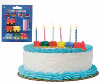 Train Birthday Candles