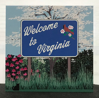 Welcome to Virginia Sign by Cat's Meow
