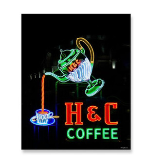 8x10 H&C Coffee Neon Sign