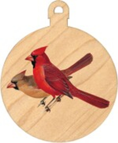 Peterson Cardinal Ball Ornament by Maple Landmark