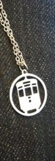 Silver Flat Trolley Necklace