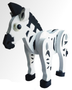 Model-3 D Foam Animals-Zebra