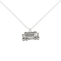 Silver Trolley Pendant Necklace