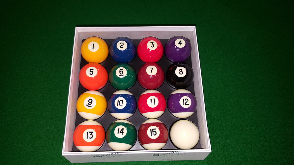 "Aramith KELLY POOL BALL Set             2"" with 1 7/8"" Cue Ball - STANDARDS"