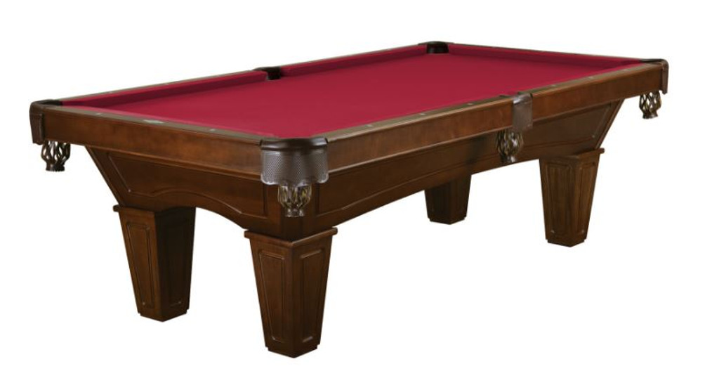 This 8' Allenton is displayed using Cardinal Red Brunswick Centennial Cloth