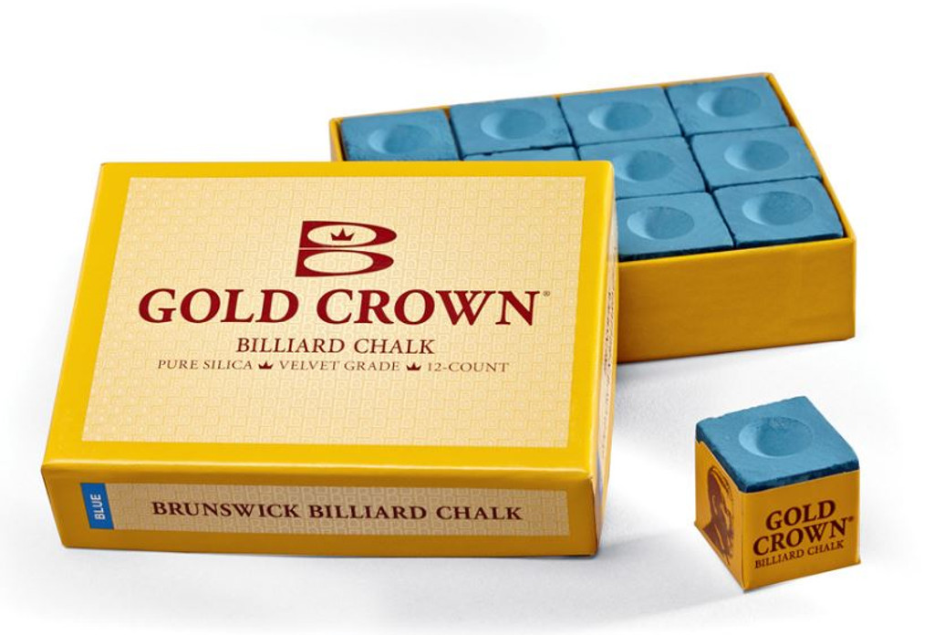 Brunswick Blue Billiard Chalk - 12 Pieces